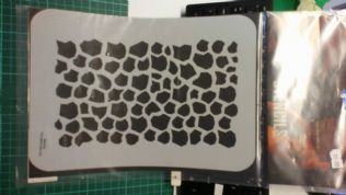 Stencil/Template/Shape Guide  'reptile'  A4 size   was £12 NOW £6.00 inc postage